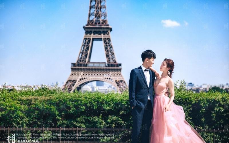 巴黎下的我和你
